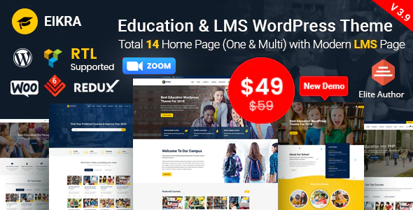 Eikra - Education WordPress Theme Download