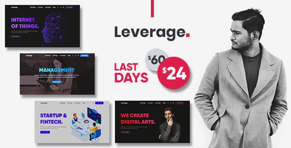 Leverage - Creative Agency & Portfolio WordPress Theme