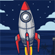 Rocket With Night Background - GraphicRiver Item for Sale