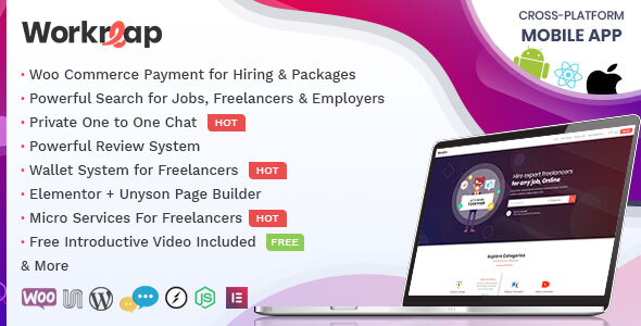Workreap - Freelance Marketplace and Directory WordPress Theme