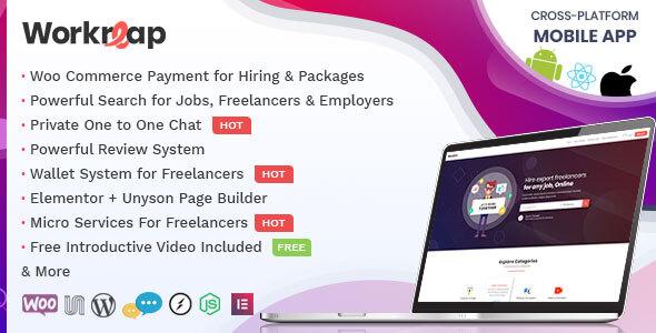 Workreap - Freelance Marketplace and Directory WordPress Theme