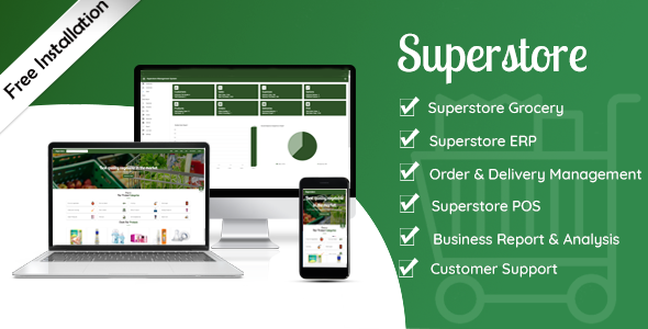 Superstore - Grocery Store + Super Shop Management + POS