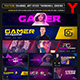 Gamer Youtube Channel Art/Video Thumbnail and Ending Video Template - GraphicRiver Item for Sale