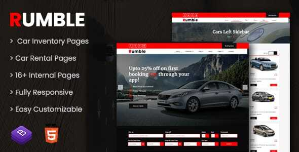 Review: Rumble - Car Rental Booking HTML Template free download Review: Rumble - Car Rental Booking HTML Template nulled Review: Rumble - Car Rental Booking HTML Template