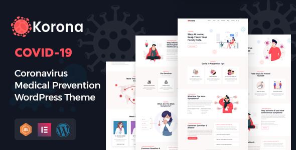 Korona - Corona virus Medical Prevention WordPress Theme