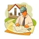 Construction Engineer is Considering a House - GraphicRiver Item for Sale