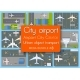 City Terminal Airport Plan Top View Set - GraphicRiver Item for Sale