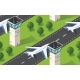 Seamless Pattern Isometric 3D City Airport - GraphicRiver Item for Sale
