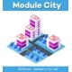 Isometric 3d Module Block District Part - GraphicRiver Item for Sale