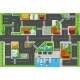 Top View of a Highway in the City with Houses - GraphicRiver Item for Sale
