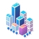 Isometric 3D Icon City Urban Area with a Lot of - GraphicRiver Item for Sale