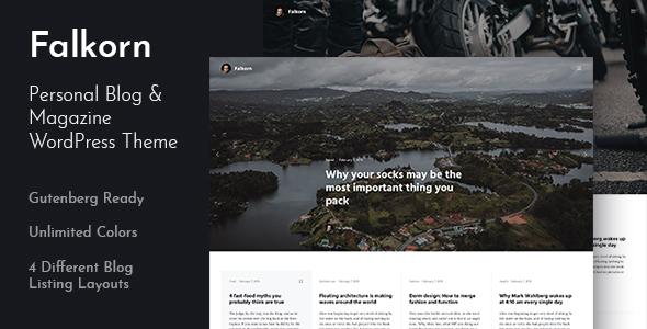 Falkorn - Personal Blog & Magazine WordPress Theme