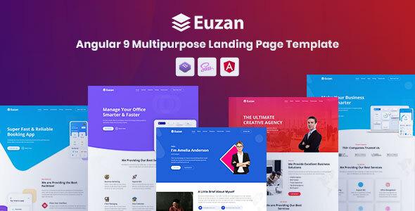 Euzan - Angular 9 Multipurpose Landing Page Template