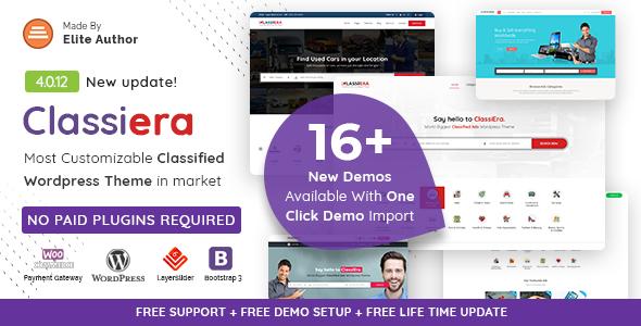 Classiera – Classified Ads WordPress Theme 4