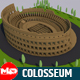 Low Poly Colosseum Rome Italy Landmark - 3DOcean Item for Sale