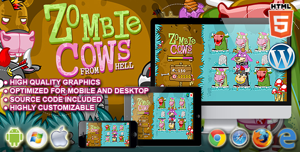 Zombie Cows - HTML5 Game Download