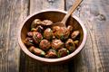 Fried mushrooms in bowl - PhotoDune Item for Sale