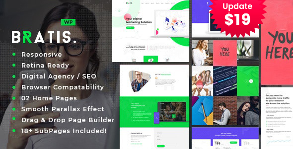 Bratis - Digital Marketing WordPress Theme