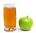 glass of apple juice and green apples isolated - PhotoDune Item for Sale