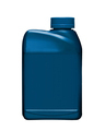 Blue plastic gallon isolated on white background - PhotoDune Item for Sale