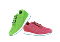 red and green sport shoes isolated on white background - PhotoDune Item for Sale