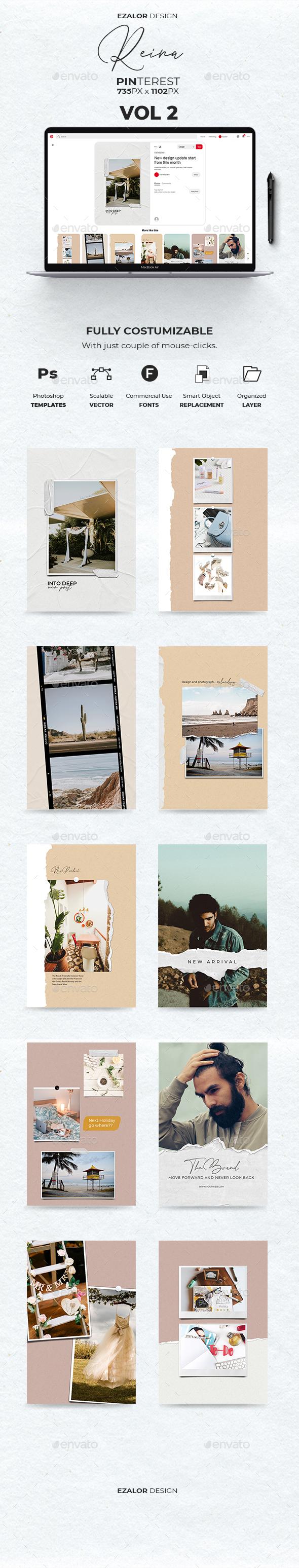 19 Pinterest Fashion Graphics, Designs & Templates
