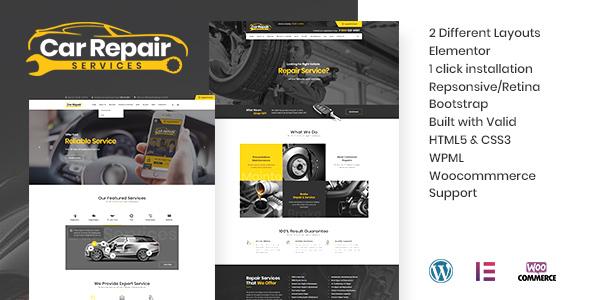 Car Repair Services & Auto Mechanic WordPress Theme Download