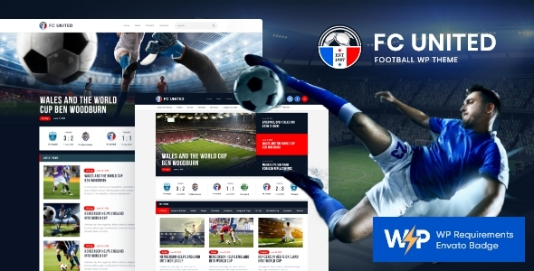 FC United | Football, Soccer & Sports WordPressTheme + RTL