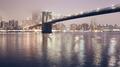 Brooklyn Bridge at a foggy night, New York. - PhotoDune Item for Sale