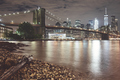 Brooklyn Bridge and Manhattan at night, New York City, USA. - PhotoDune Item for Sale