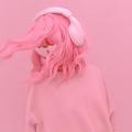 Vanilla Pink Dj Girl. Monochrome Party style. Stylish headphones, music lover concept - PhotoDune Item for Sale