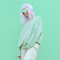Dj Girl in Fresh Mint Fashion clothing. Minimal aesthetic monochrome design. Aqua menthe color trend - PhotoDune Item for Sale