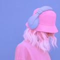 Urban Summer fresh Dj Girl. Monochrome Minimal design trends. Vanilla aesthetic colours mood - PhotoDune Item for Sale
