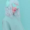 Vanilla Dj Blonde Girl. Monochrome Party style. Fresh aesthetic mint colours - PhotoDune Item for Sale