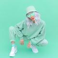Fresh Mint urban look. Fashion Girl 90s. Monochrome color trends. Aqua Menthe aesthetic concept - PhotoDune Item for Sale