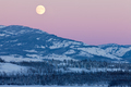 Yukon Canada winter landscape and full moon rising - PhotoDune Item for Sale