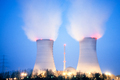 Nuclear power plant past sundown - PhotoDune Item for Sale