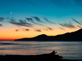 Vancouver Island Sunset Moon West Coast BC Canada - PhotoDune Item for Sale