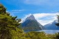 Milford Sound and Mitre Peak in Fjordland NP NZ - PhotoDune Item for Sale