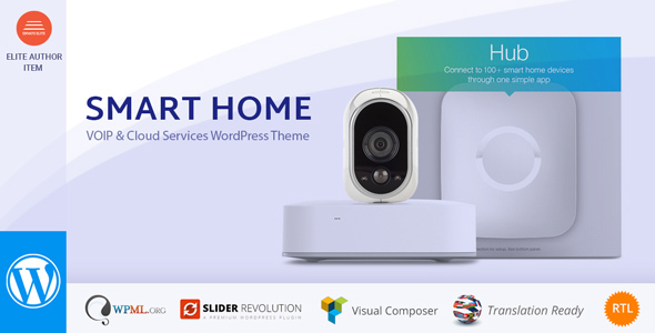 Smart Home - Automation & Security WordPress Theme