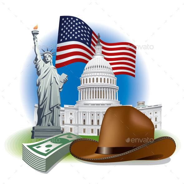 USA Landmarks and Symbols