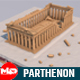 Low Poly Parthenon in Athens Greece Landmark - 3DOcean Item for Sale