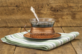 Rustic Coffee with Silver Spoon - PhotoDune Item for Sale
