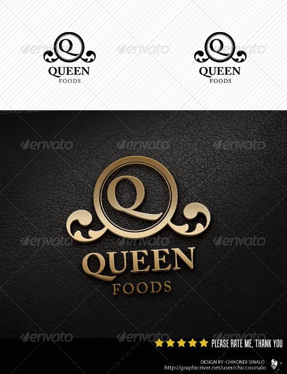 Queen Foods Logo Template