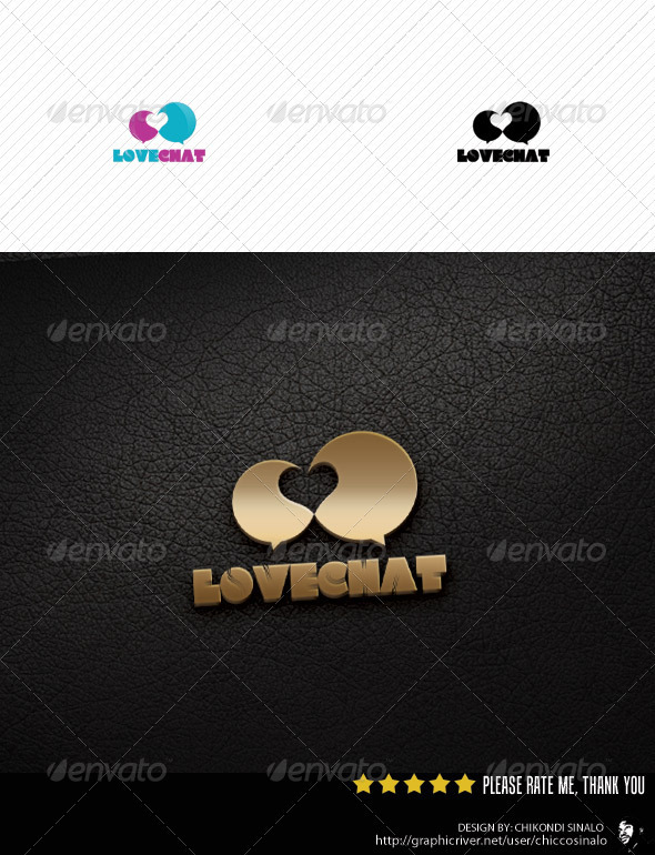 Lovechat Logo Template