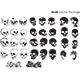 Skulls Vector Package - GraphicRiver Item for Sale