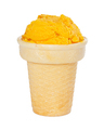Fruit mango ice cream in a waffle cup - PhotoDune Item for Sale