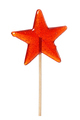 Sweet lollipop in the shape of a star isolated on white - PhotoDune Item for Sale