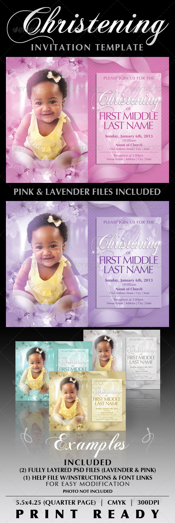 Baby Card Designs Invite Templates From Graphicriver
