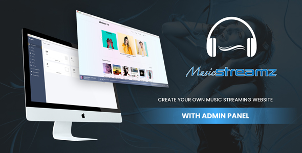 Streamz- A music streaming website with admin panel Download